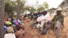 Kenyan Farmers Learn New Methods Stock Footage
