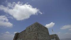 Catalonian castle fortress timelapse 4k Stock Footage
