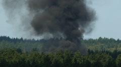 HD - Big smoke in the woods_scene1 Stock Footage