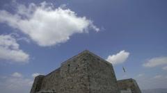 Catalonian fortress castle timelapse Stock Footage