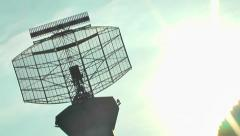Rotating Satellite Dish Airport flight Control  1 Stock Footage