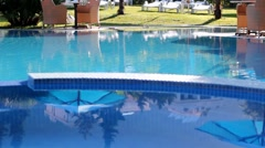 Private Swimming pool Stock Footage