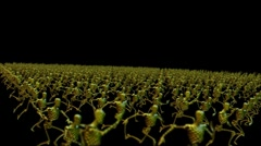 Test Robot Crowd Running Stock Footage