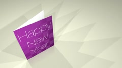 Greetings Card Happy New Year HD Stock Footage