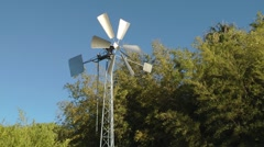 Modern windmill on the farm Stock Footage