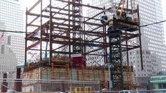Foundation close-up at the World Trade Center Site. - stock footage