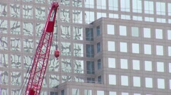 Crane at the World Trade Center Site. - stock footage