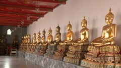 Detail of Buddhist temple Wat Suthat in Bangkok. Stock Footage