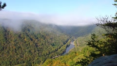 Fog at Beauty Mountain WV Stock Footage