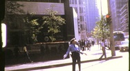 Stock Video Footage of Traffic Cop Policeman Directs Traffic Circa 1975 (Vintage Film Home Movie) 790