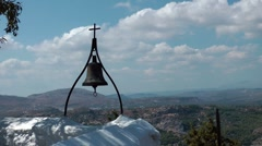 Bell and cross Stock Footage