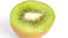 Kiwi fruit isolated on white background Stock Footage