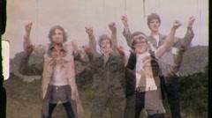 TEENAGE Motorcycle Riders Student Film Prank GOOFY 60s Vintage Home Movie 793 Stock Footage