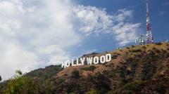 HollywoodSign_TimelapseZoom Stock Footage