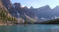 Moraine Lake Banff h 05 Stock Footage