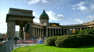 Kazan Cathedral in summer, St. Petersburg, Russia (timelapse) Stock Footage