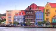 Stock Video Footage of Punda district in Willemstad Curacao