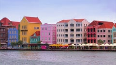 Punda district in Willemstad Curacao Stock Footage