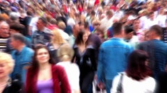 Slow motion 0.5x 1080p: Anonymous crowd of people Stock Footage