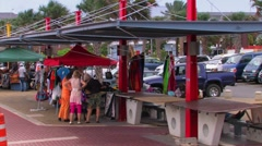 Market In Willemstad Curacao Stock Footage