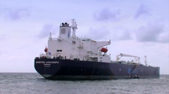 Oil Tanker Leaving Willemstad Curacao Stock Footage
