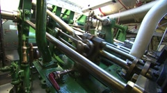 Paddle Steamer Engine Room Pistons Stock Footage