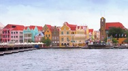 Stock Video Footage of Queen Emma Pontoon Bridge Timelapse, Willemstad Curacao