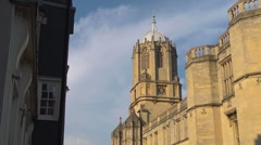 Christchurch College, Oxford,  Looking up St. Aldates. Stock Footage