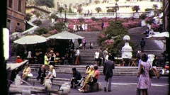 Stock Video Footage of SPANISH STEPS Piazza di Spagna Rome Italy 1960s Vintage Film Home Movie 804