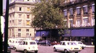 Stock Video Footage of AVENUE DES TERNES, Paris Street Scene 1969 (Vintage Old Film Home Movie) 803