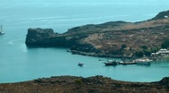 Stock Video Footage of yact in the lindos bay