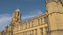 Christchurch College, Oxford, extreme wide angle. Establishing shot. 2 Stock Footage