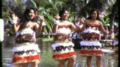 Hawaiian Hula Girls Dancers Dance 1960s (Vintage Film 8mm Home Movie) 813 Stock Footage