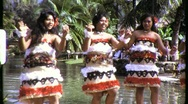 Stock Video Footage of Hawaiian Hula Girls Dancers Dance 1960s (Vintage Film 8mm Home Movie) 813