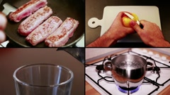 Stock Video Footage of In the kitchen - composition