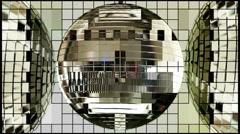 Mirror ball - Test pattern Stock Footage