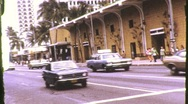 Stock Video Footage of Street Scene Honolulu, Hawaii Circa 1971 (Vintage Film Home Movie Footage) 818