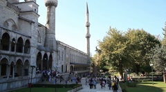 Blue mosque time lapse HD 1080p Stock Footage
