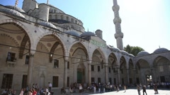 Blue mosque time lapse 2 HD 1080p Stock Footage