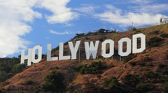 HollywoodSign_TimelapseClose - stock footage
