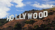 Stock Video Footage of HollywoodSign_TimelapseClose