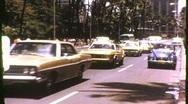 Street Scene Honolulu, Hawaii Circa 1971 (Vintage Film Home Movie Footage) 819 Stock Footage