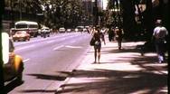 Stock Video Footage of Street Scene Honolulu, Hawaii Circa 1971 (Vintage Film Home Movie Footage) 821