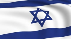 Flying flag of israel | looped | Stock Footage