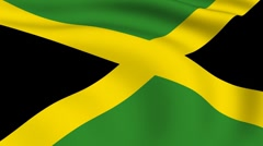 flying flag of jamaica | looped | - stock footage
