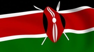Stock Video Footage of flying flag of kenya | looped |