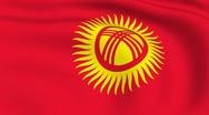 Flying flag of kyrgyzstan | looped | Stock Footage