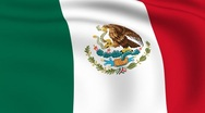 Flying flag of mexico | looped | Stock Footage