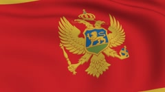 Flying flag of montenegro | looped | Stock Footage