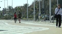 Street sport, walking. Stock Footage